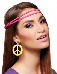 Gelbe Hippie-Ohrringe