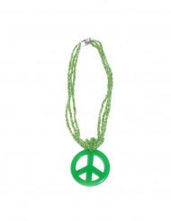 Grüne Hippie-Halskette