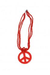 Rote Hippie-Halskette