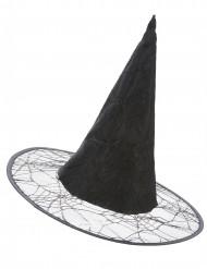 Schwarzer Grusel-Hexenhut