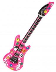 Rosa Gitarre zum Aufblasen