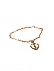 Goldene Halskette mit Anker