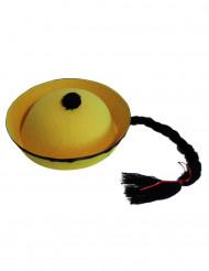 Schwarz-gelber Chinesen-Hut