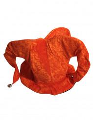Orangefarbener Hofnarren-Hut