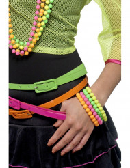 Neonfarbene Armketten für Erwachsene
