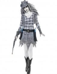 Halloween Cowgirl-Geister-Kostüm für Damen