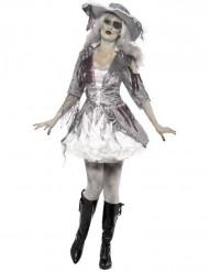Halloween Piraten-Geister-Kostüm für Damen