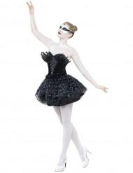 Schwarzes Tänzerinnen-Kostüm für Damen