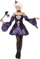 Halloween lila Barock-Kostüm für Damen
