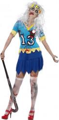 Halloween Zombie-Hockeyspielerin-Kostüm für Damen