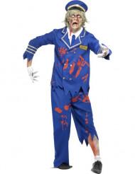 Halloween Zombie-Flugkapitäns-Kostüm für Herren