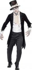 Halloween Zombie-Gentleman-Kostüm für Herren