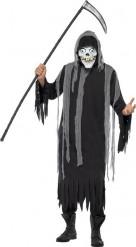 Halloween Sensemann-Skelett-Kostüm für Erwachsene