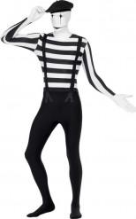 Hautenges Pantomime-Kostüm für Erwachsene