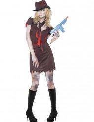 Halloween Sexy Gangster-Zombie-Kostüm für Damen