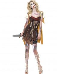 Halloween Sexy Gladiatorinnen-Zombie-Kostüm für Damen