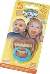 Witziger Baby-Schnuller mit Zähnen