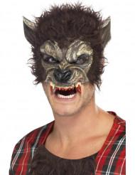 Halloween Werwolfs-Halbmaske für Erwachsene