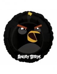 Angry Birds™ Bomb Aluminium Luftballon rund 45 cm schwarz