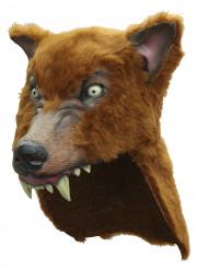 Braune Wolfsmaske für Erwachsene