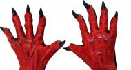 Halloween Teufels-Hände für Erwachsene