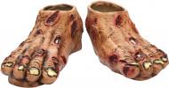 Halloween Zombie-Füße für Erwachsene