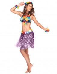 Hawaii Minirock violett für Frauen