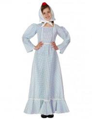 Blaues Madrileninnen-Kostüm für Mädchen