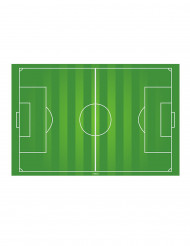 Fussballfeld Tortenoblate grün-weiss 20 x 30 cm