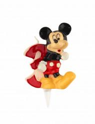 Micky Maus™ Kerze Zahl 3 bunt 6,5cm