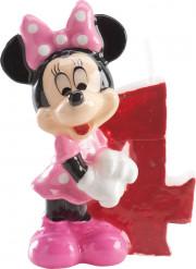 Minnie Mouse™ Kerze - Zahl 4