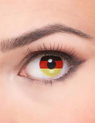 Kreative schwarz rot gold Kontaktlinsen