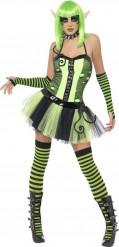 Grünes Elfen-Kostüm für Damen