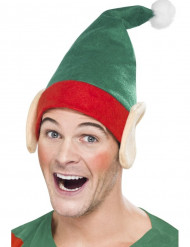 Weihnachtliche Elfen-Mütze mit Ohren für Erwachsene