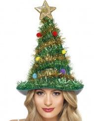 Geschmückter Weihnachtsbaum-Hut für Erwachsene
