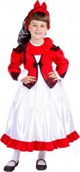 Stilechtes, spanisches Kostüm für Mädchen