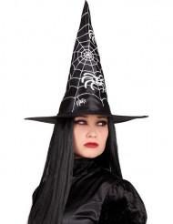Schwarzer Halloween Hexenhut für Erwachsene