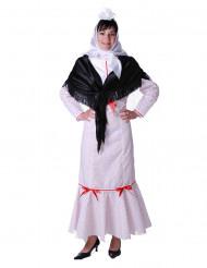 Weißes Madrileninnen-Kostüm für Damen