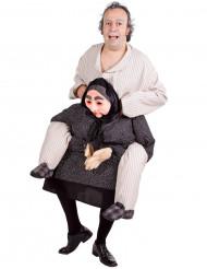 Mann auf Oma Fun-Kostüm für Erwachsene