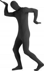 Hautenges schwarzes Kostüm für Erwachsene