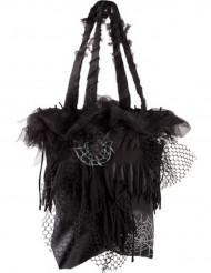 Schwarze Halloween Spinnen-Tasche