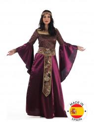 Lila Mittelalter-Kostüm für Damen