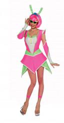 Sexy neonfarbenes Alien-Kostüm für Damen