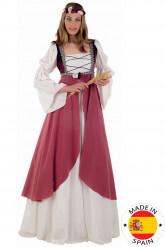 Rosa Mittelalter-Kostüm für Damen
