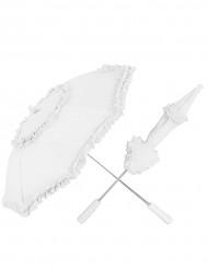 Weißer Schirm aus Spitze
