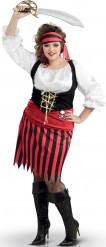 Piraten-Kostüm mit Kopftuch für Damen