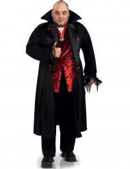 Vampirkostüm mit Mantel für Herren schwarz-rot Plus Size