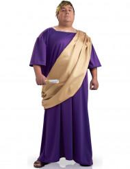 Römer-Kostüm mit Toga für Herren Plus Size Lila