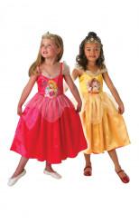 Dornröschen und Belle™-praktisches Wendekostüm für Kinder bunt