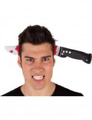 Haarreif mit Messer im Schädel